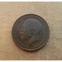 Великобритания, 1 пенни 1919 г., Георг V (1910-1936), большой портрет