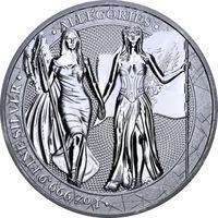 Серебряная монета, Аллегории, Колумбия и Германия, 1 oz