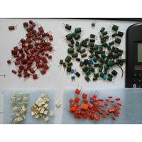 Конденсаторы полипропилен, пленка, лавсан итп. импорт   (дополняется ) от 1000пф до 1 мкф