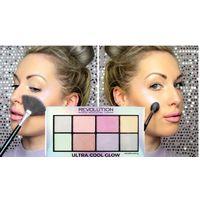 Палетка хайлайтеров ultra cool glow makeup revolution