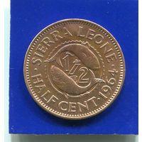 Сьерра Леоне 1/2 цента 1964