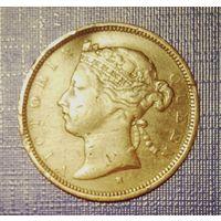 Маврикий 2 цента 1877. Виктория. Неплохие.