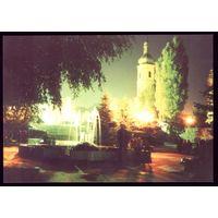 Пинск Вечерний сквер вблизи францисканского костёла