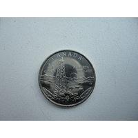 Канада 25 центов Вышка 2005 монета из ролла