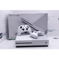Белая консоль Microsoft Xbox One S 1Tb (2 геймпада). Гарантия