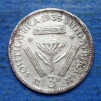 Южная Африка Британский доминион 3 пенса 1935 Георг V
