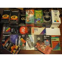 Видеокассеты фирменные с записью - 64 шт.+13 шт.