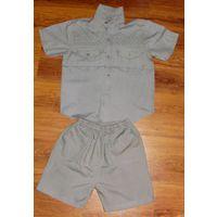 Костюм рубашка-шорты для мальчика 122-128