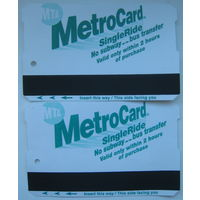 Проездные билеты (карточки на проезд) метро Нью-Йорк, США. Цена за 1 шт.