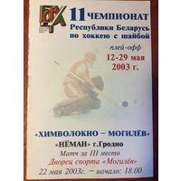Химволокно (Могилев) - Неман (Гродно). Чемпионат Беларуси-2002/2003. Плей-офф.