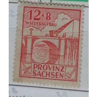 Земля Cаксония. Германия. Советская зона оккупации.  Дата выпуска:1946-01-19