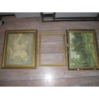 Рамы,рамки от картин 6шт , репродукции 4 шт