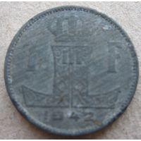 Бельгия 1 франк 1942 Belgique-Belgie (1)
