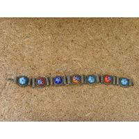 Старинный детский браслет . Муранское стекло