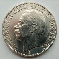 3 марки 1912, Баден, серебро. Состояние!!!