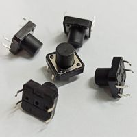 Кнопка ((цена за 20 шт)) 12 x 12 х 10 мм. Тактовая. Без фиксации