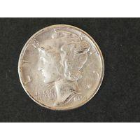 1 дайм (10 центов)США 1944