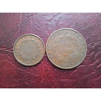 1/2 и 1 цент 1845 г.