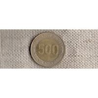 Эквадор 500 сукре 1997/биметалл(Li)