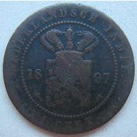 Нидерландская (Голландская) Ост-Индия 1 цент 1897 г. (g)