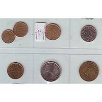 Эстония. Комплект из 7 монет