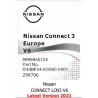NISSAN Connect 3 V6 SD карта Europa 2021 9999850124- D43BF04-D0060-2001