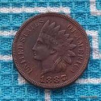 США 1 цент 1887(8) года, Индеец. Редкость!