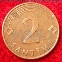 7222:  2 сантима 2000 Латвия