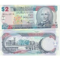 Барбадос 2 доллара образца 2012 года UNC p66с