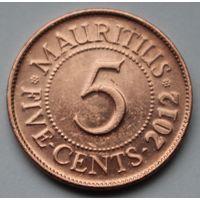 Маврикий, 5 центов 2012 г.