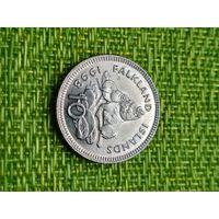Фолклендские острова: 10 пенсов, 1998 год, форма - круг