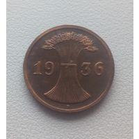 2 пфеннига 1936 год мд  D