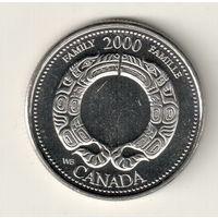 Канада 25 цент 2000 Семья