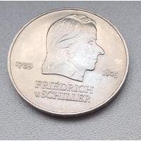 Германия - ГДР 20 марок, 1972 Фридрих фон Шиллер 6-10-15