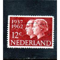 Нидерланды.Ми-772.Королева Юлиана и принц Бернхард Серия: 25 лет годовщины свадьбы.1962.