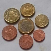 Набор евро монет Австрия 2009 г. (1, 2, 5, 10, 20, 50 евроцентов, 1 евро)