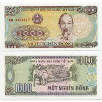 Вьетнам. 1000 донгов (образца 1988 года, P106a, UNC)