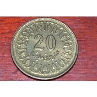 Тунис 20 миллимов 1983