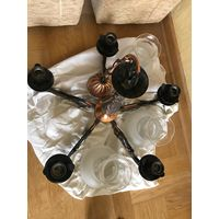 Люстра Ивица 5-рожковая с 5 плафонами в рабочем состоянии