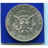 США 1/2 доллара  1968 D , серебро
