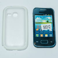 956 Чехол для Samsung S6312 силиконовый чёрный