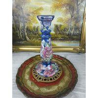 Китайская ваза Подсвечник Клеймо Фарфор Эмаль лот 01-06