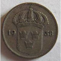 Швеция 10 эре 1938 серебро