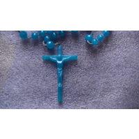 Крестик Католический и чётки для молитвы. (пластик) #1 распродажа