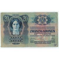 Австро-Венгрия, 20 крон 1913 год.