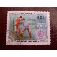 Монголия. Борьба 1981 спорт