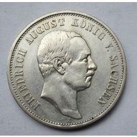 Германия, Саксония, 3 марки, 1908, серебро