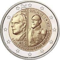 2 евро 2017 г. Люксембург 200 лет со дня рождения Великого герцога Виллема III.UNC из ролла