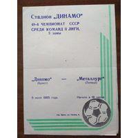 Динамо Брест- Металлург Липецк-1985