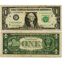 США. 1 доллар (образца 1988 года, 1988A, F, Джорджия, P480)